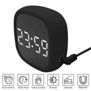 Radio réveil Réveil Digital Secteur,Multifonctionnel Silicone V