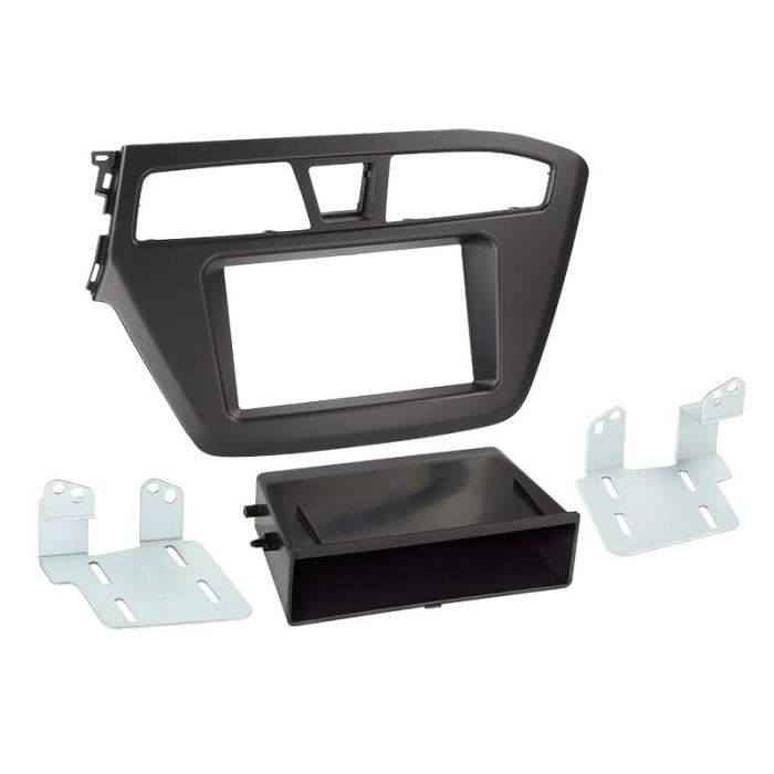 Adaptateur de façade 2-DIN avec vide poche Hyundai i20 2014-> > noir