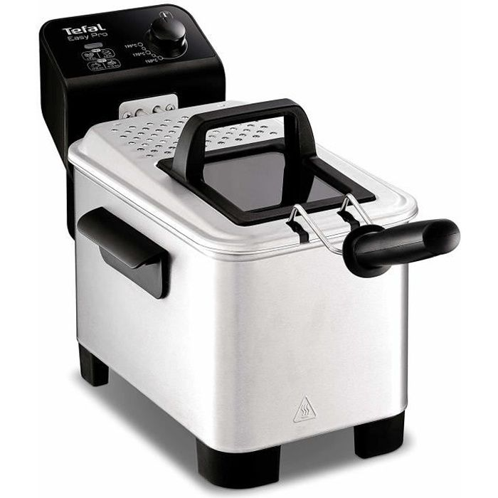 Tefal fr3330 - Friteuse easy pro 3l (Solo, acier inoxydable, stand-alone, vernis, rotatif)