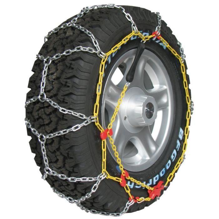 Chaine neige 4x4 utilitaires 16mm pneu 275-45R21 robuste et fiable