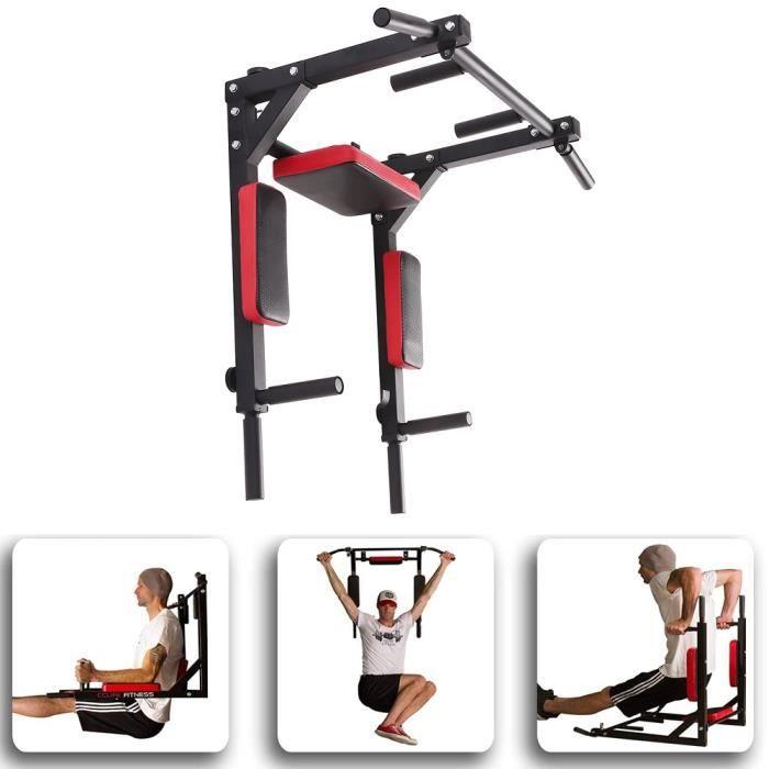 GMM® Barre de Traction Murale - Chaise Romaine Murale - Démontable Gym Entraineur