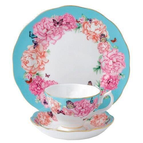 Service À Thé - Café,Ensemble de sous tasses à café en porcelaine, service à thé britannique, tasse royale - Type D