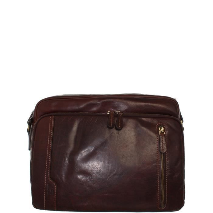 Besace David William ref_lhc40839 marron Marron
