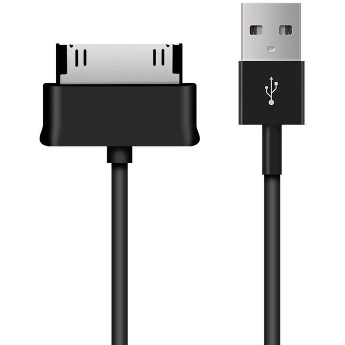 kwmobile Câble USB Samsung Galaxy Tab 1/2 10.1/Tab 2 7.0/Note 10.1 - Câble chargeur USB 2.0 avec 30 broches pour tablette Samsung Ga