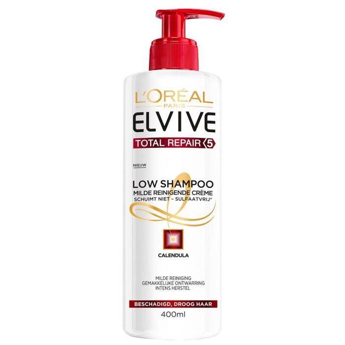 L'OREAL - ELVIVE - Low Shampoo TOTAL REPAIR 5 3 IN 1 - 400ml