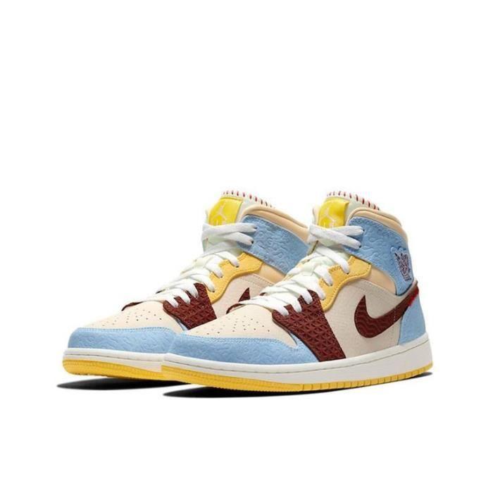 Air Jordan 1 Mid Fearless Chaussures de Sport Basket AJ 1 Pas Cher pour Homme Femme
