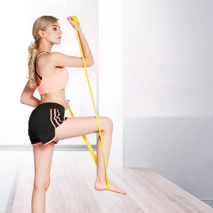Bande Élastique Fitness, Latex Naturel Équipement d'Exercices pour Musculation-Pilates-Yoga - 1500*150*0.35mm