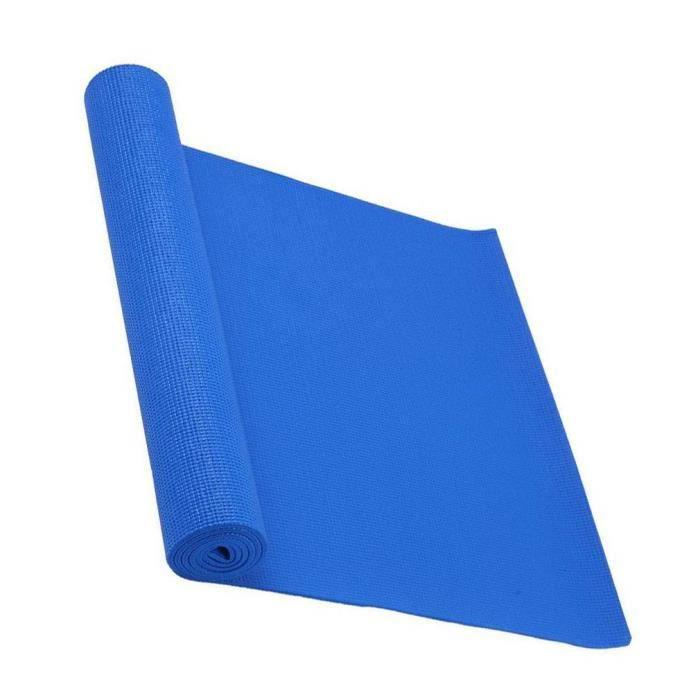 tapis de Yoga Tapis de Sol Tapis de Gym en Mousse bleu mode portable