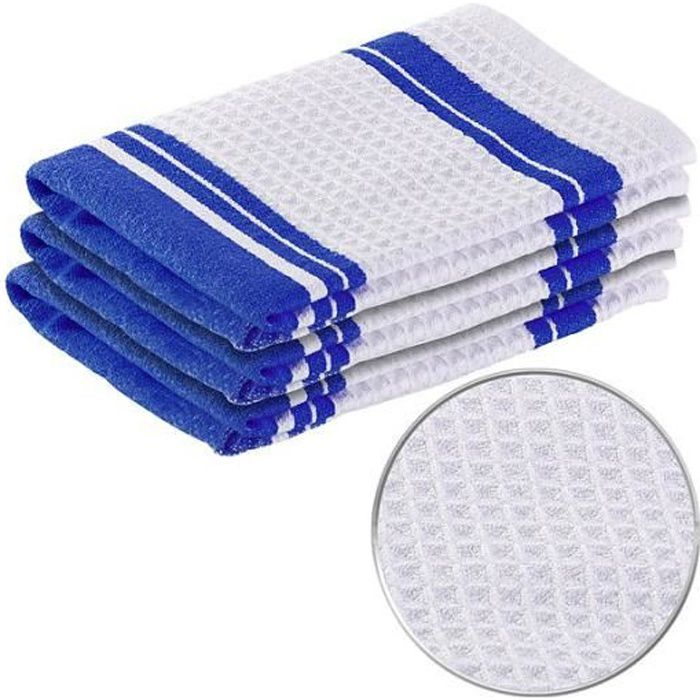 Pack de 3 torchons en microfibres spécial vaisselle