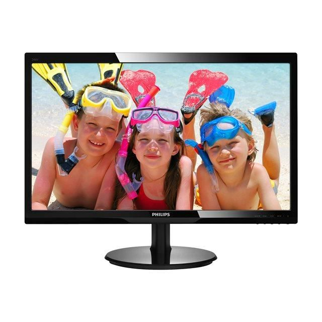 PHILIPS Moniteur LCD V-line 246V5LDSB 61 cm (24-) Full HD LED - 16:9 - Noir - Résolution 1920 x 1080 - 16,7 Millions de Couleurs