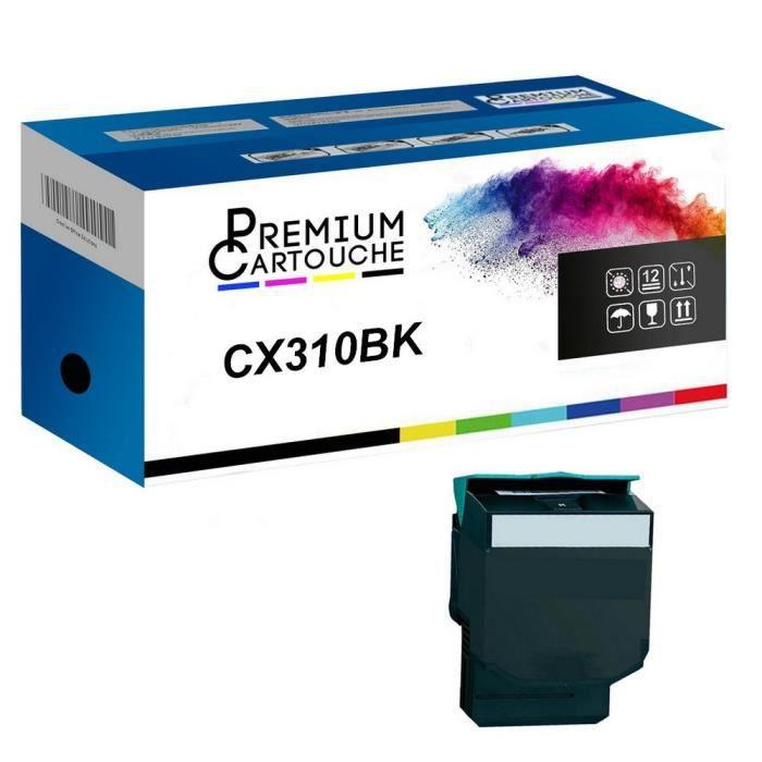 Toner 80C0S10 Noir Compatible pour Lexmark CS310dn CS310n CS410dn CS410dtn CS410n CS510de CS510dte CX310dn CX310n CX410de CX410dte