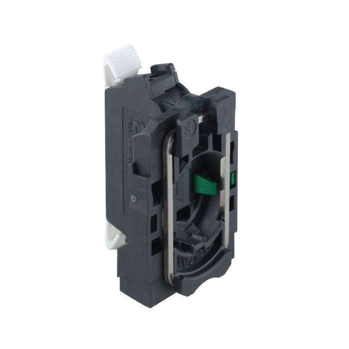 Schneider Electric LED Lampe Témoin Blanc, éclairage Blanc Bloc pour tête Ø22 Integral LED 230.240 V Pince de serrage Bornes - ZBV