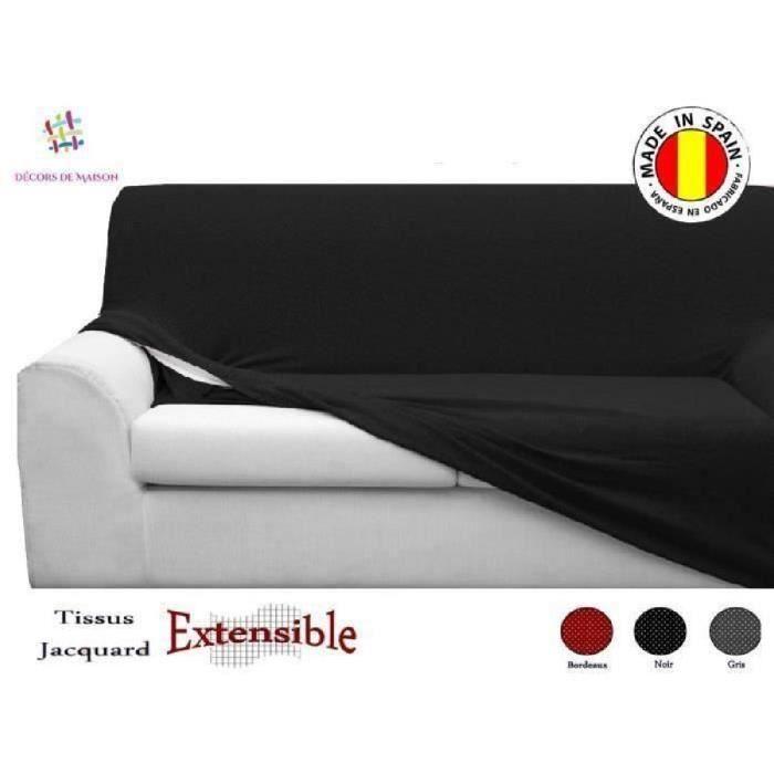 1 Housse de canapé 3 places + 2 Housse de fauteuil - GRIS-FABRICATION ESPAGNOLE- Décors De Maison