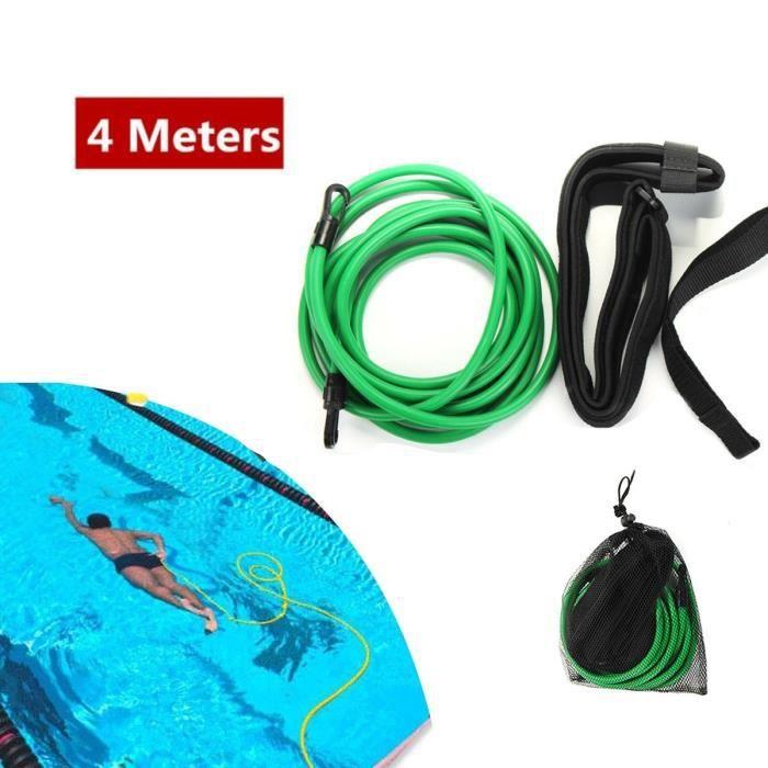 Ceinture de Natation Cordes - Bandes de résistance à la natation Corde d'entraînement à l'élastique de natation(6 * 10 * 4m vert)