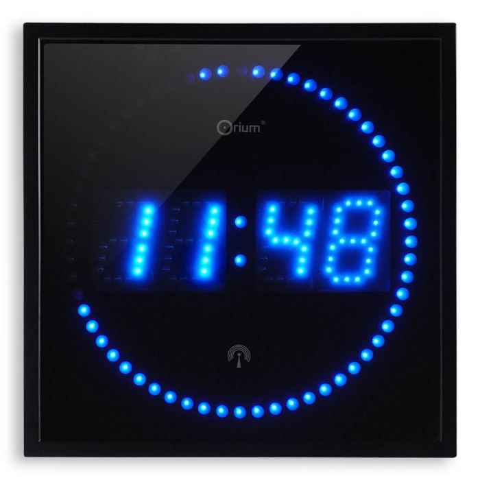 horloge led bleues rc achat vente horloge plastique et verre soldes cdiscount. Black Bedroom Furniture Sets. Home Design Ideas