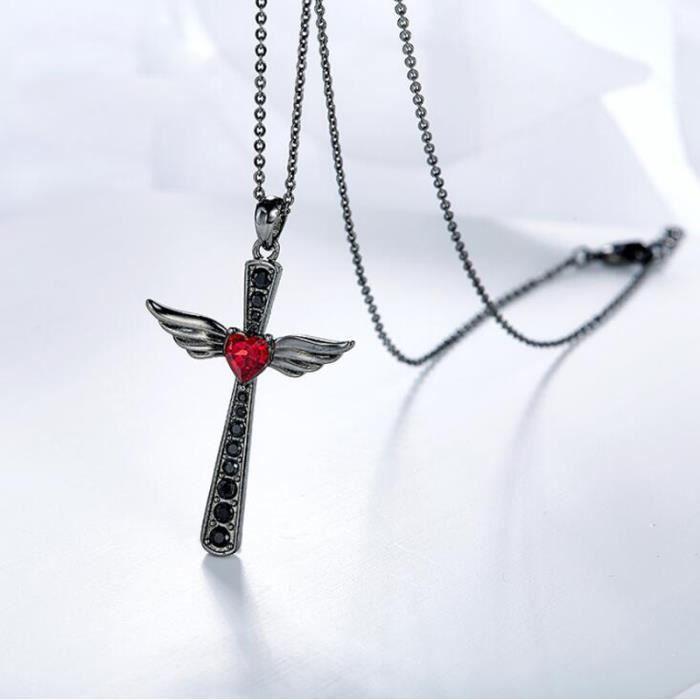 collier femme aile d'ange
