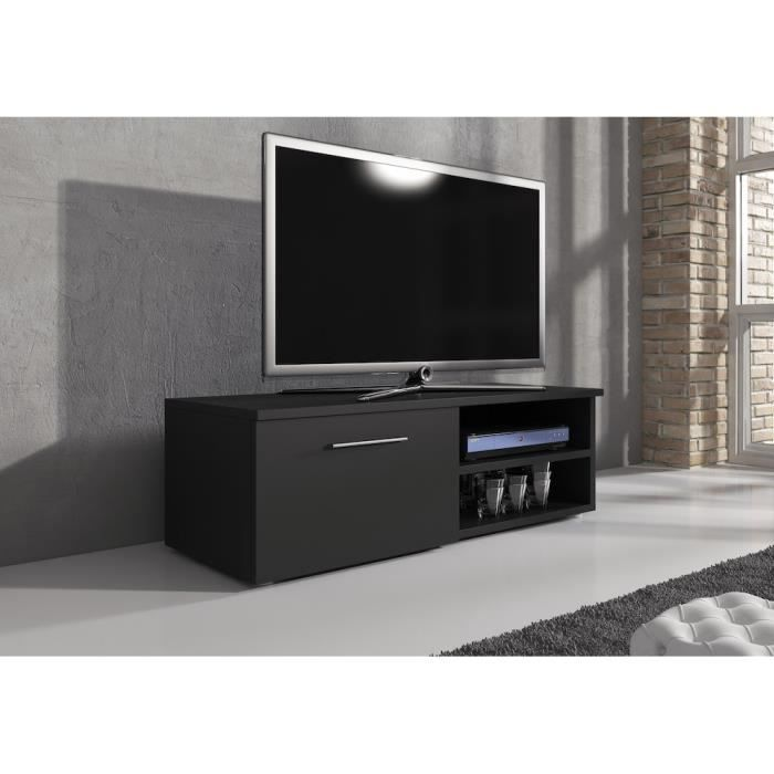 reno meuble tv contemporain d cor noir mat 120 cm achat vente meuble tv reno meuble tv. Black Bedroom Furniture Sets. Home Design Ideas