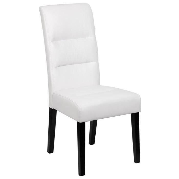 chaise de s jour pu couleur blanche achat vente chaise blanc cdiscount. Black Bedroom Furniture Sets. Home Design Ideas