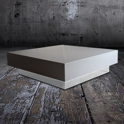 table basse vip 120x120 coloris blanc achat vente. Black Bedroom Furniture Sets. Home Design Ideas
