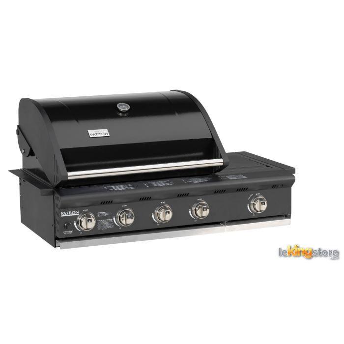 Barbecue gaz patron build in 4 1 br leurs p achat vente barbecue bar - Barbecue gaz encastrable ...
