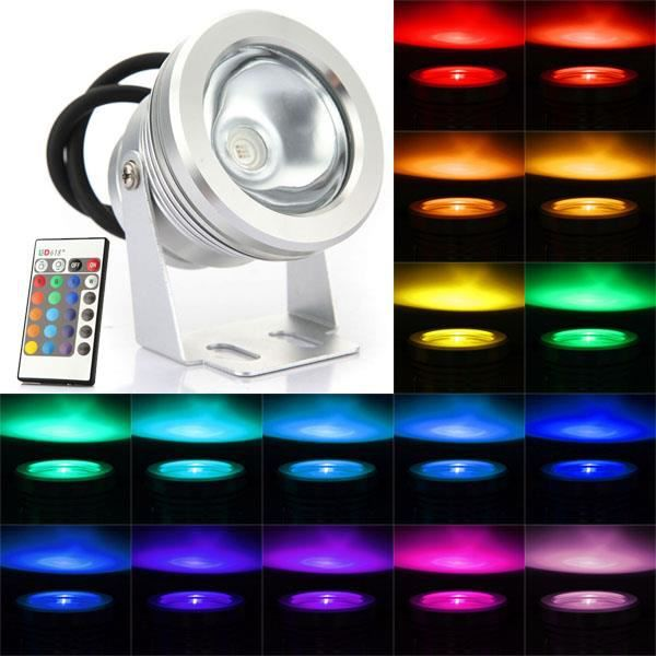 10w rgb 12v projecteur ext rieur led change multicolore for Projecteur led rgb exterieur