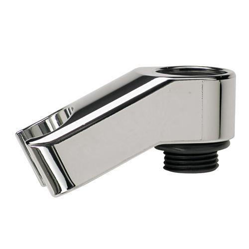 Support de douchette à fixer par dessous la robinetterie en plastique chromé