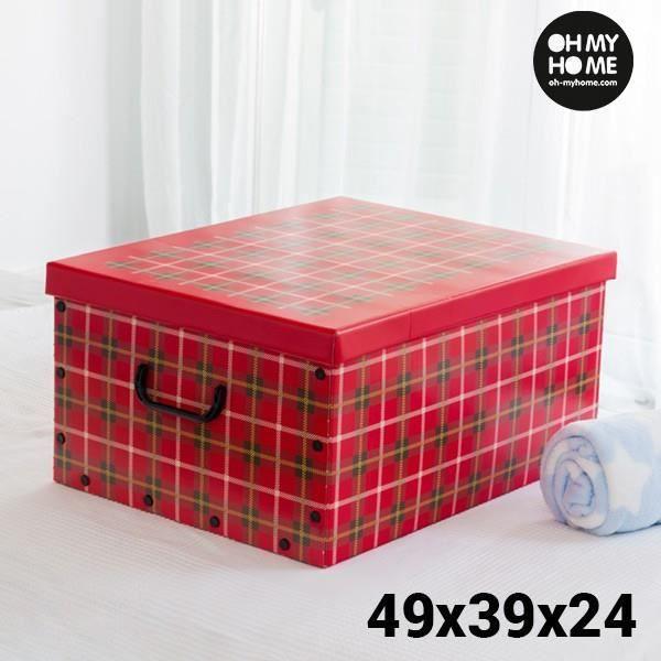 BOITE DE RANGEMENT Boîte de Rangement en Carton avec Couvercle et Poi