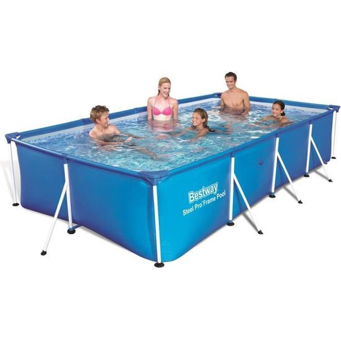 ordinaire PISCINE BESTWAY Piscine rectangulaire tubulaire L4,00 x l2