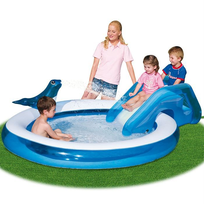 Piscine seal slide achat vente piscine gonflable piscine seal slide cdi - Piscine gonflable cdiscount ...