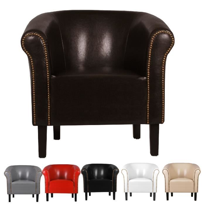 fauteuil crapaud monaco simili cuir avec clous achat. Black Bedroom Furniture Sets. Home Design Ideas