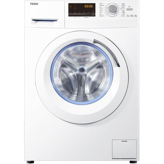 haier w8436 lave linge 8 kg 1400 tours a achat. Black Bedroom Furniture Sets. Home Design Ideas