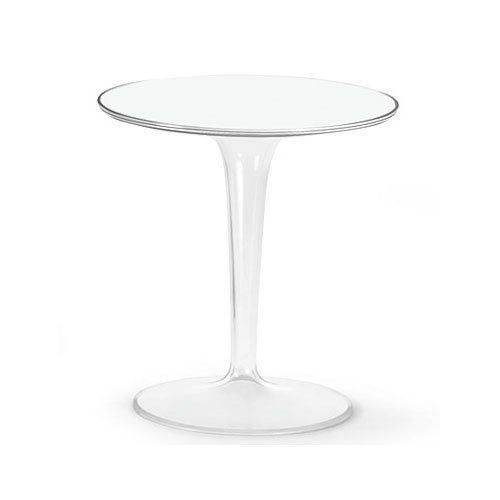 Kartell 8600e5 table d 39 appoint tip top blanc br achat for Table d appoint transparente