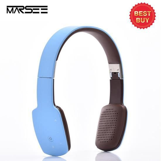 Casque Stéréo Sans Fil Bluetooth Casque Audio Pliable Bluetooth V4