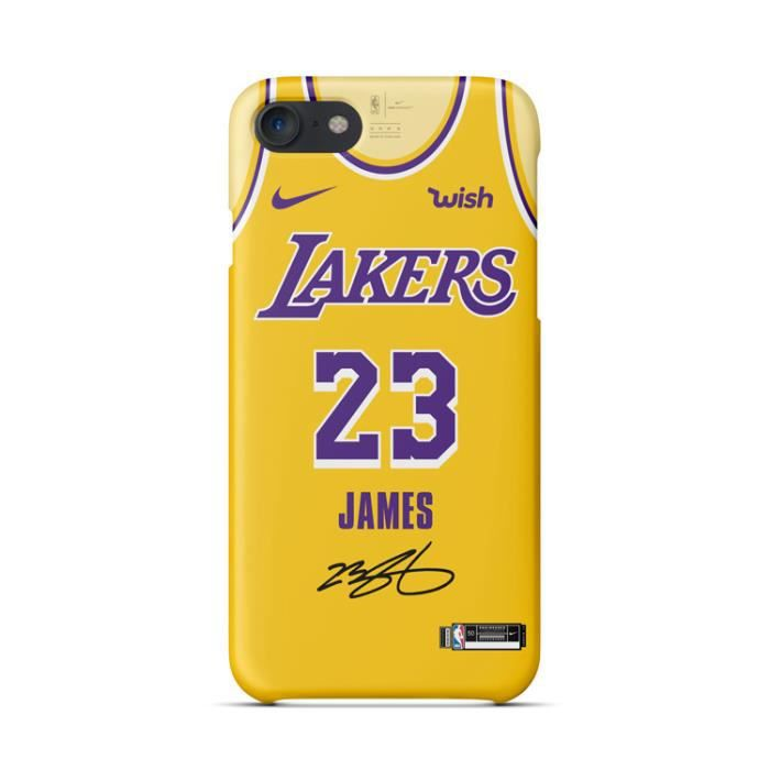 coque iphone 6 6s nba lakers lebron james jaune co