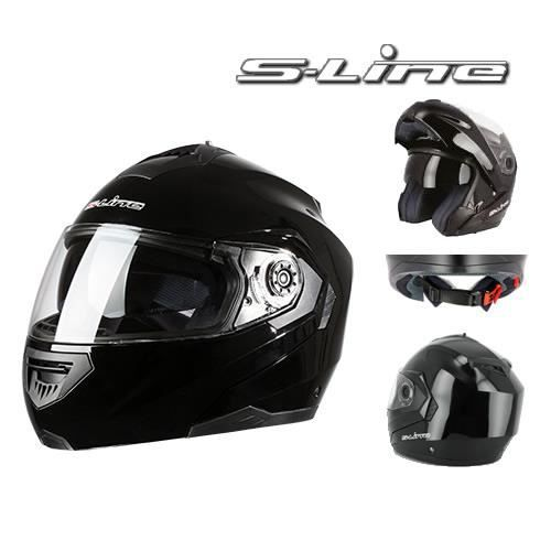 casque moto modulable noir achat vente casque moto scooter casque moto modulable noir. Black Bedroom Furniture Sets. Home Design Ideas