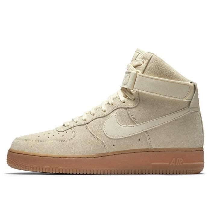 b417cf20be8 Chaussures Nike Air Force 1 High 07 LV8 Suede Muslin Beige - Achat ...