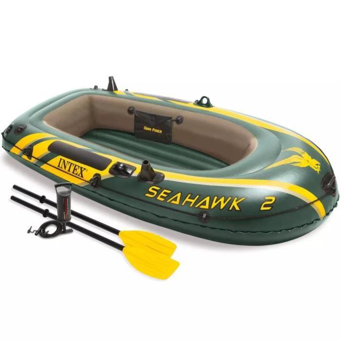 INTEX SEAHAWK 2 Bateau Gonflable-Set avec rames et pompe 68347np