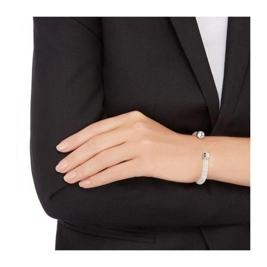 Bracelet Swarovski Crystaldust Blanc - Manchette M - 40 cm
