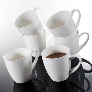 Tasse /à Caf/é Capuccino 380ml pour 12 Personnes MALACASA S/érie Amparo Tasse /à Th/é 12pcs Mugs Porcelaine