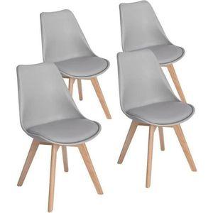 CHAISE DE BUREAU HJ STORE Ensemble de 4 chaises de cuisine en bois,