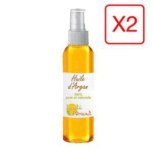 HUILE - LAIT MASSAGE Lot de 2 Huiles d'Argan 30mL spray 100% naturelle