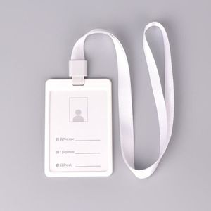 PORTE BADGE BLANC Etui Porte Badge Carte Visite ID Travail Ide