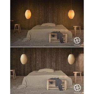 luminaire asiatique achat vente pas cher. Black Bedroom Furniture Sets. Home Design Ideas