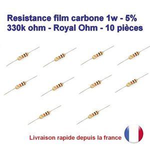170res372 5/% 330kohm Royal OHM 10x R/ésistance Carbone 1w 330k ohm