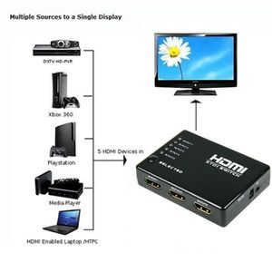 CÂBLE TV - VIDÉO - SON CZ 5 Port HDMI 1080P vidéo pour Splitter Switcher