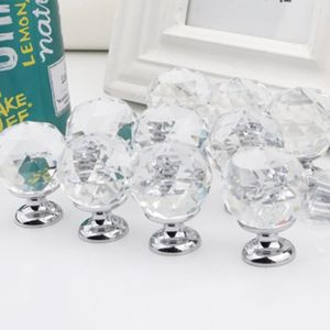 1pcs bulle cristal armoire ronde boule bouton tiroir tiroir placard poignée de