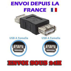 CÂBLE INFORMATIQUE Dax® new RACCORD USB FEMELLE / FEMELLE
