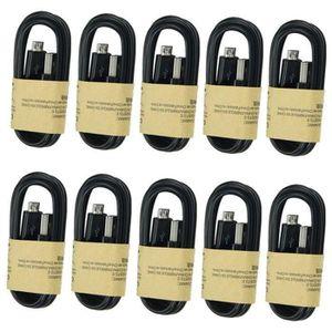 CÂBLE TÉLÉPHONE Noir 10pcs Câble Micro USB Cable Chargeur Smartpho