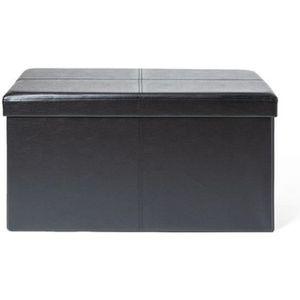 BANC Banc coffre rangement pliable Noir - HOMEROKK