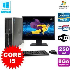 ORDI BUREAU RECONDITIONNÉ Lot PC HP Elite 8200 SFF Core I5 3.1GHz 8Go 250Go